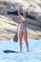 Elsa Pataky in a Bikini, Paddleboarding in Corsica, France, July 2015