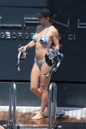 Elsa Pataky in a Bikini - Paddleboarding in Corsica, France - July 2015