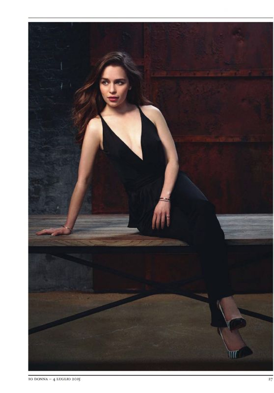 Emilia Clarke - Io Donna Magazine July 2015 Issue