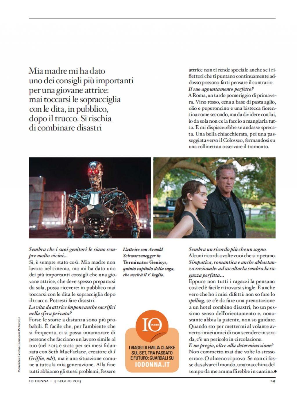 Emilia Clarke: iO Donna Magazine 2018 -12 | GotCeleb