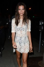 Emily Ratajkowski Night Out Style - Leaving De Re Gallery in West Hollywood, July 2015