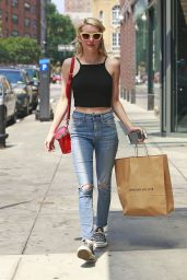 Emma Roberts Street Style - Shopping in New York City, July 2015