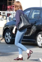 Emma Stone Street Style - Out in Los Angeles, July 2015