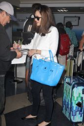 Emmy Rossum Airport Fashion - at LAX in Los Angeles, July 2015