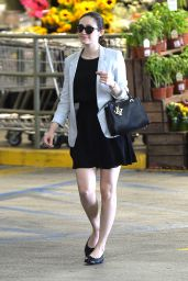 Emmy Rossum at Whole Foods in Beverly Hills, July 2015