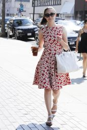 Emmy Rossum in Summer Dress - Out in Beverly Hills, July 2015