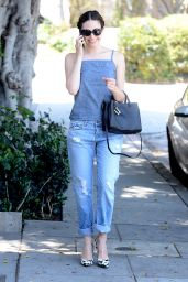 Emmy Rossum Street Fashion - West Hollywood, June 2015
