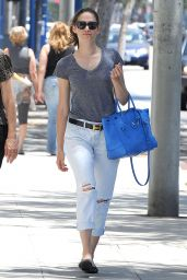 Emmy Rossum Street Style - West Hollywood, July 2015