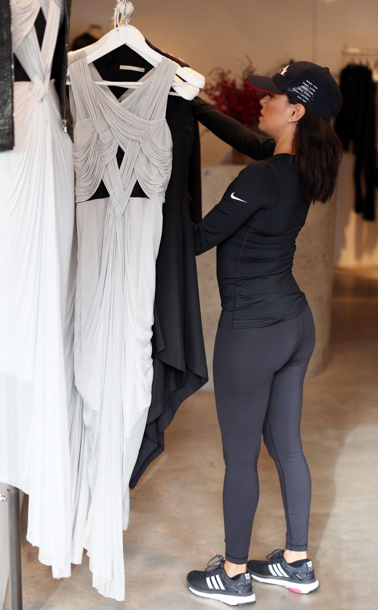 Eva Longoria Booty In Tights Sydney July 2015