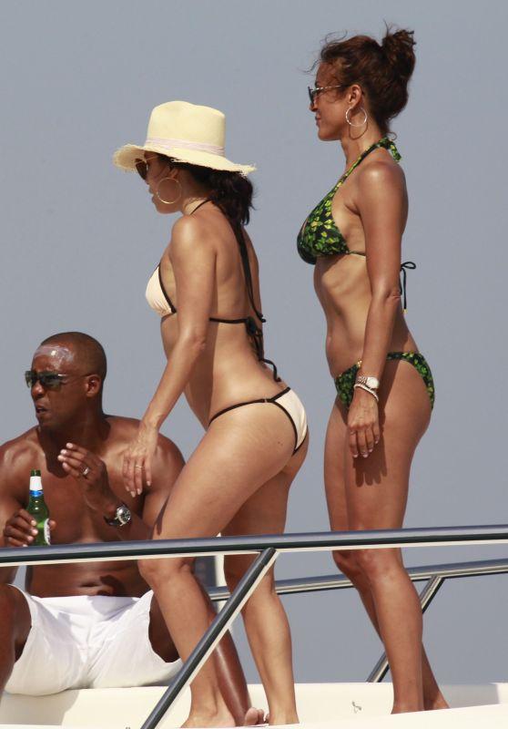 Eva Longoria & Eva La Rue Bikini Candids - Marbella, Spain - July 2015