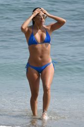 Eva Longoria in a Bikini at a Beach in Marbella, Spain 7/3/15 [Adds]