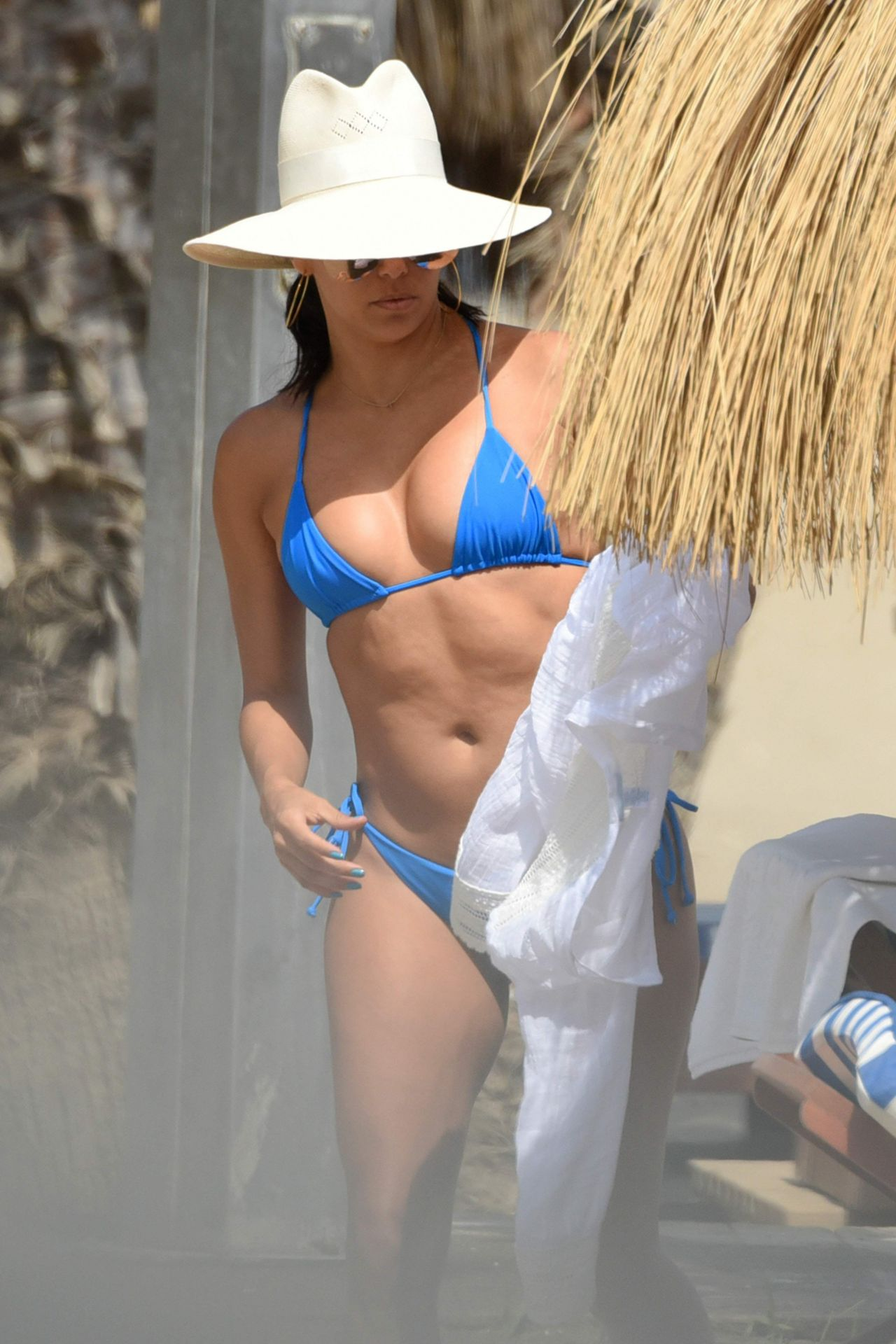 Eva Longoria in a Bikini at a Beach in Marbella, Spain ...