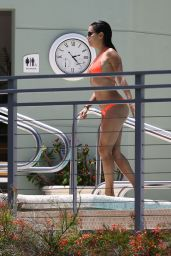 Eva Longoria in a Bikini at a Pool in Miami, June 2015