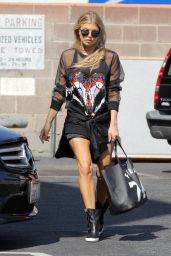 Fergie Street Style - Recording Studio in Santa Monica, July 2015