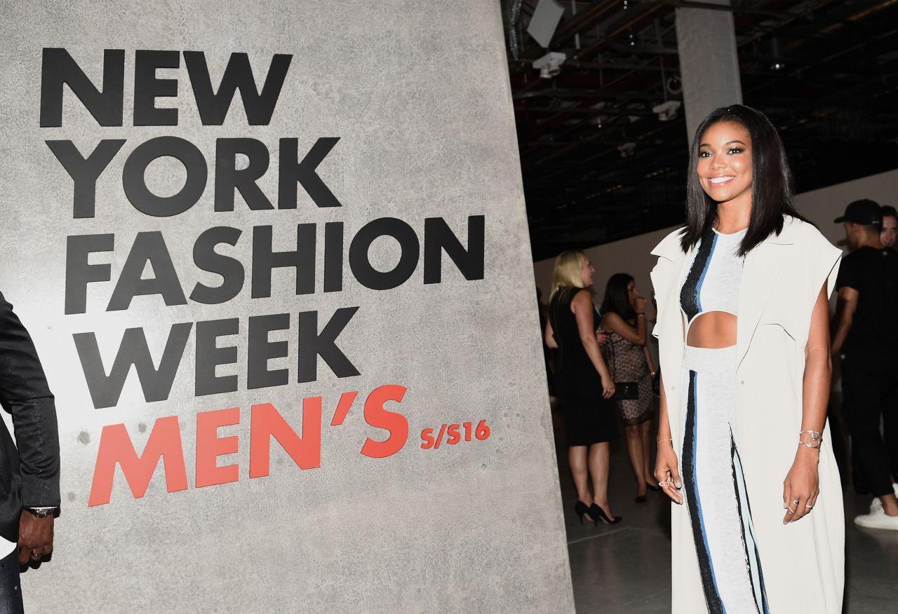 Gabrielle Union New York Fashion Week Men 39 S Spring Summer 2016 In Brooklyn