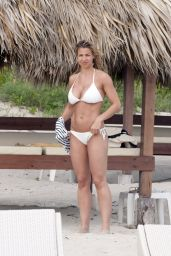 Gemma Atkinson Hot in a White Bikini in Cuba, July 2015