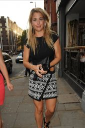Gemma Atkinson Style – Sakana Pan-Asian Restaurant & Club LIV in Manchester