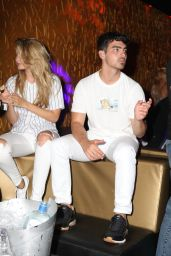 Gigi Hadid - Getting Cozy with Joe Jonas - 10 Oak Nightclub in NYC, July 2015