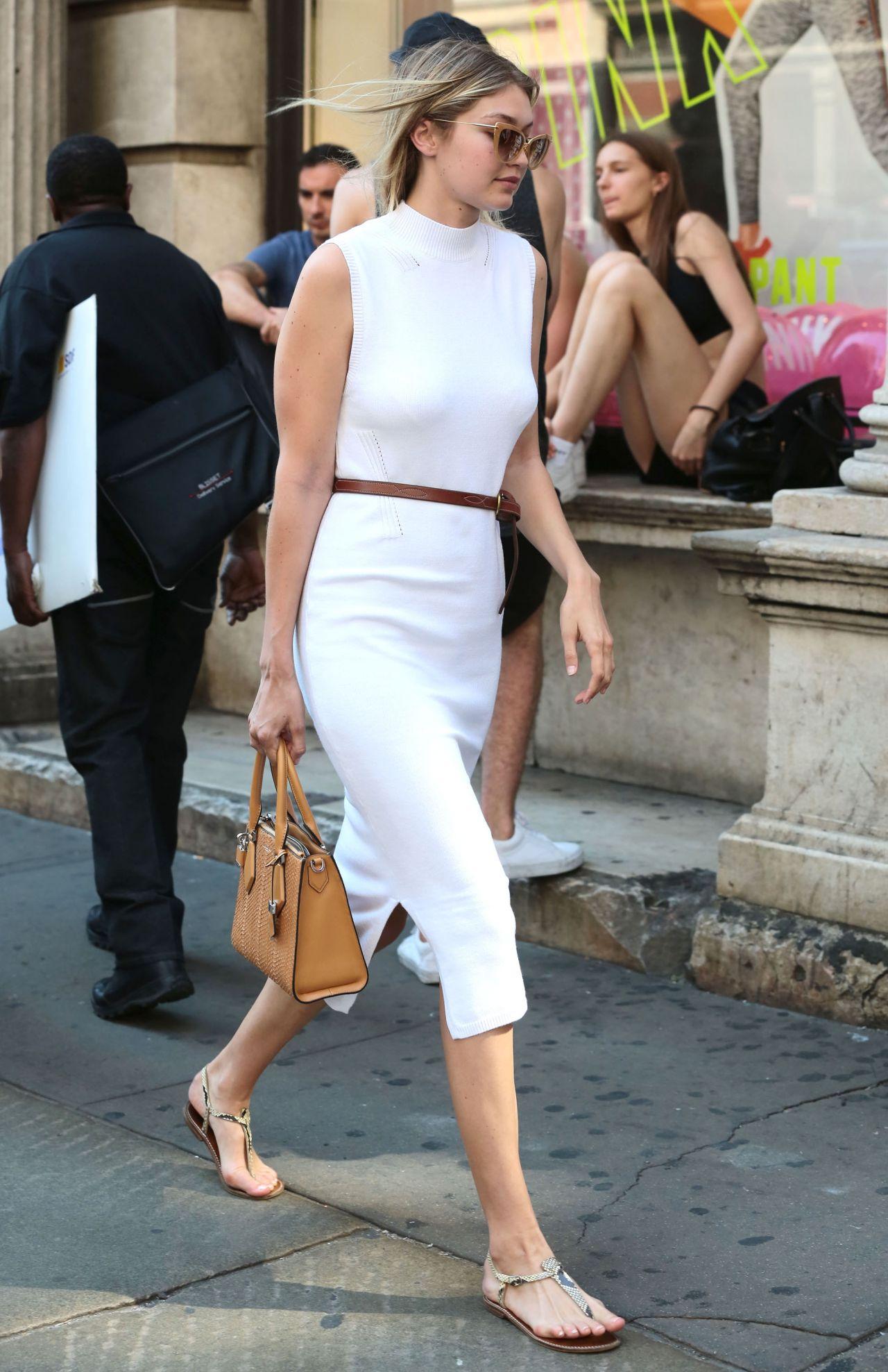 Gigi Hadid Street Fashion Out In New York City July 2015