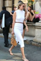 Gigi Hadid Street Fashion - Out in New York City, July 2015