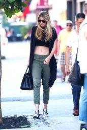 Gigi Hadid Street Fashion - Out in NYC, July 2015