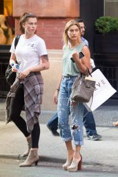 Hailey and Ireland Baldwin - Shopping in SoHo, NYCm July 2015