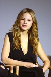Halston Sage - Paper Towns Cast and Filmakers Event at the Apple Store in NYC