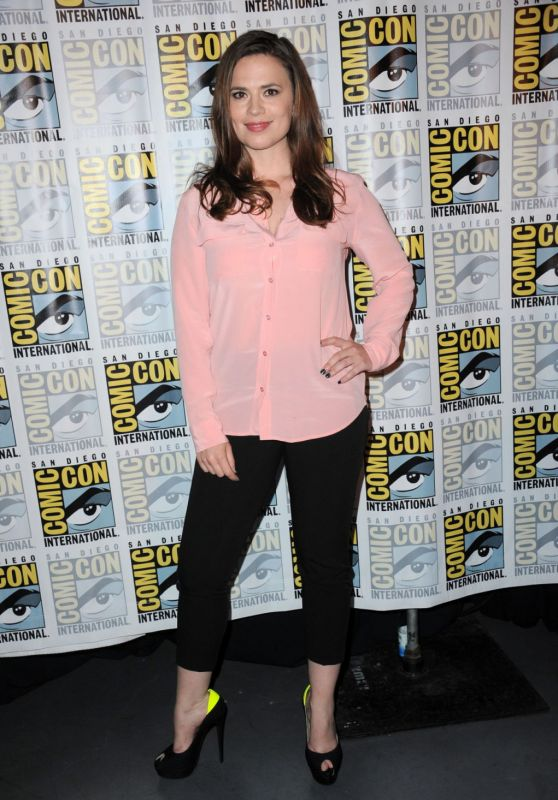 Hayley Atwell - Women Who Kick Ass Panel at Comic Con in San Diego