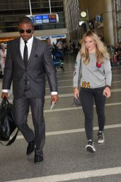 Hilary Duff Airport Style - at LAX, July 2015