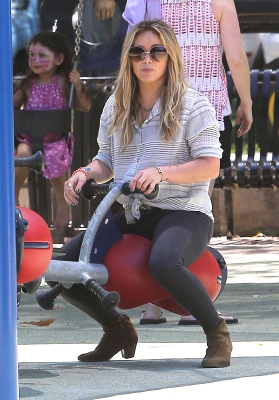 Hilary Duff - at Coldwater Canyon Park in Beverly Hills, July 2015