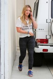 Hilary Duff Booty in Tights - Going to the Gym in West Hollywood, July 2015