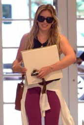 Hilary Duff -in Leggings - Stops by the Stella McCartney Store in West Hollywood, July 2015