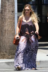 Hilary Duff Summer Style - Out in Studio City, July 2015