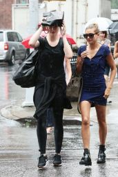 Ireland Baldwin and Hailey Baldwin - Caught in the Rain in NYC, July 2015