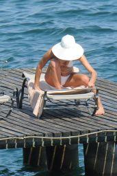 Irina Shayk Hot in a Wihite Bikini - Italy, July 2015