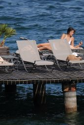 Irina Shayk Hot in a Wihite Bikini - Italy, July 2015