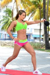 Jennifer Nicole Lee in a Bikini and Exercising in Miami, June 2015
