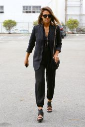 Jessica Alba Casual Style - Out in Culver City, July 2015