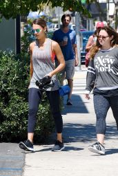 Jessica Alba in Leggings - at a Soul Cycle Class in LA, July 2015