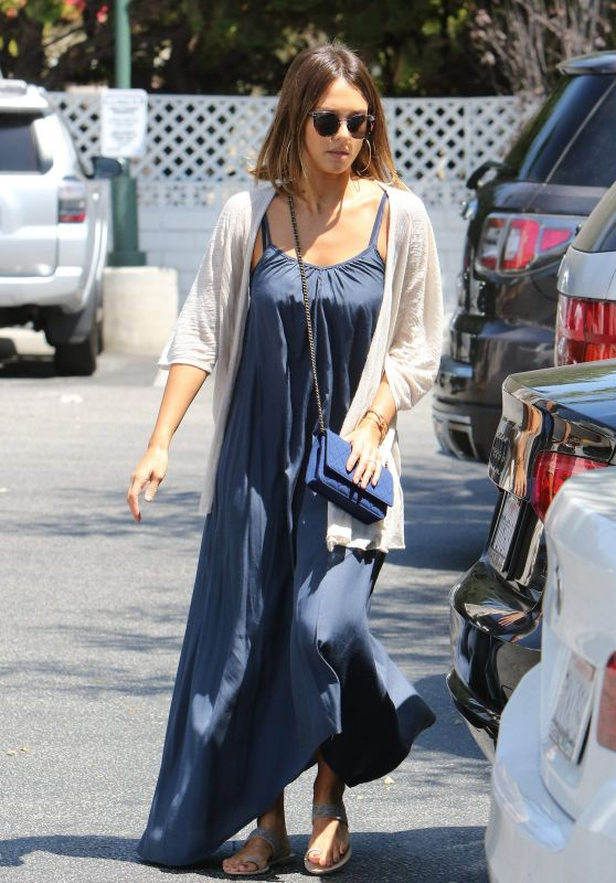 Jessica Alba Shopping at Bristol Farms in West Hollywood, July 2015