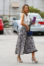 Jessica Alba Summer Style- Heads to Her Office in Santa Monica, July 2015