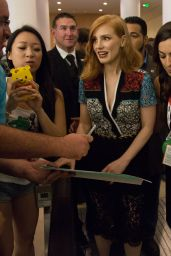 Jessica Chastain Meeting Fans - Comic-Con in San Diego, July 2015