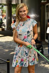 Joanna Krupa Summer Style 2015  - Promotes the Adoption of Dogs for Polish TV Station TVN in Warsaw