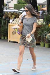Jordana Brewster in Mini Skirt - Shopping in West Hollywood, July 2015
