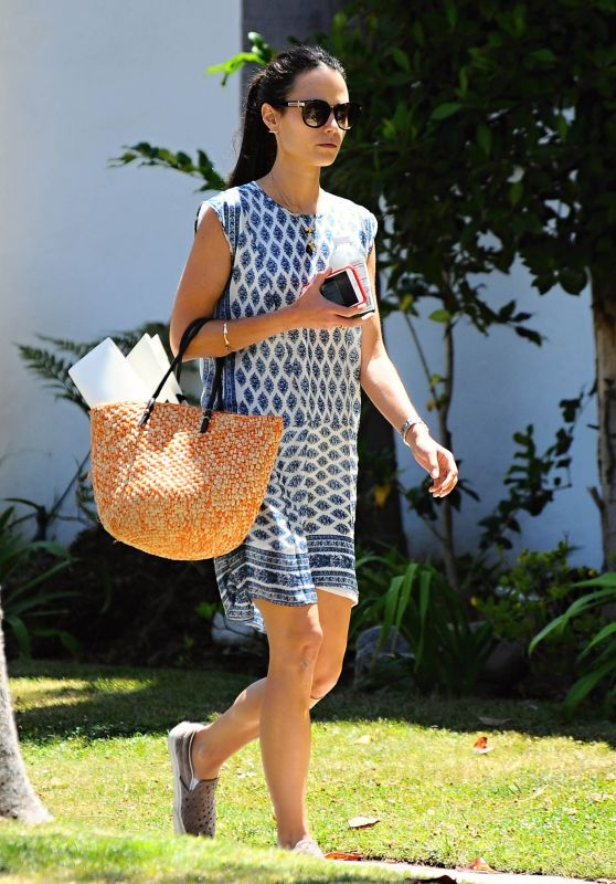 Jordana Brewster Summer Style - Out in Brentwood, July 2015