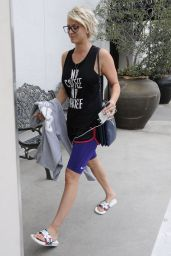Kaley Cuoco at Lancer Skincare Clinic in Beverly Hills, July 2015