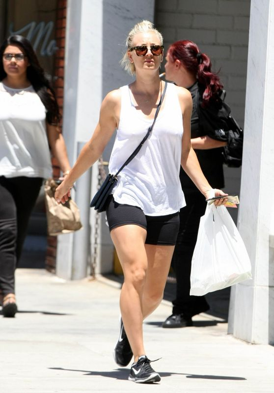 Kaley Cuoco in Shorts - Out and About in Beverly Hills, July 2015
