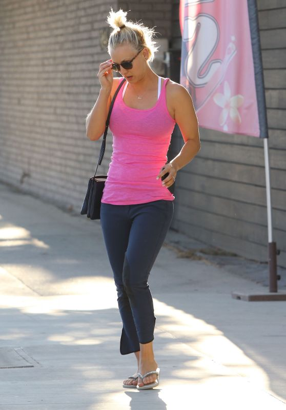 Kaley Cuoco - Leaving a Salon in Studio City, July 2015