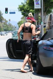 Kaley Cuoco - Leaving the Gym After Her Yoga Class - July 2015