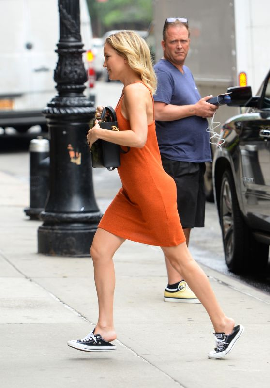 Kate Hudson Arriving at her hotel in Soho, NY, July 2015